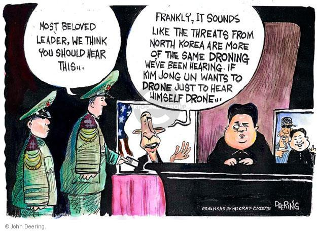 John Deering  John Deering's Editorial Cartoons 2013-04-01 North Korea Nuclear
