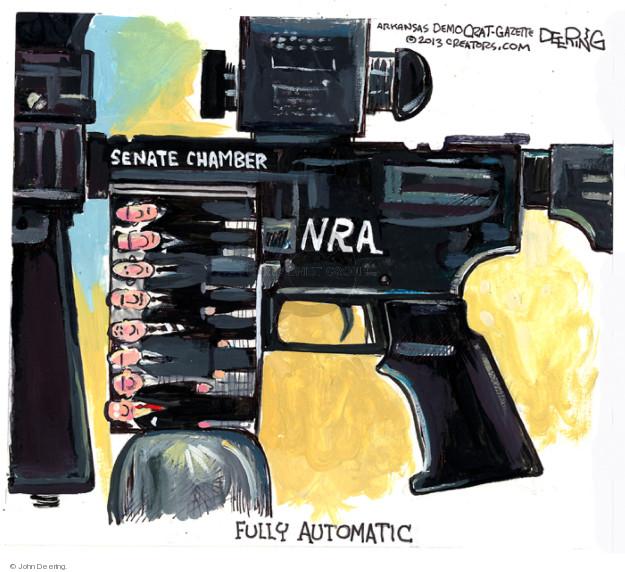 Cartoonist John Deering  John Deering's Editorial Cartoons 2013-04-20 gun rights