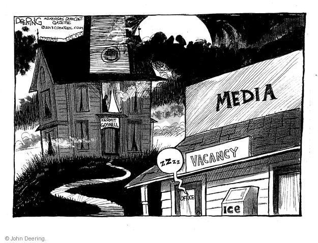 Cartoonist John Deering  John Deering's Editorial Cartoons 2013-05-03 reporter