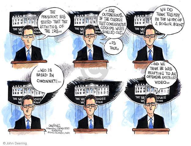Cartoonist John Deering  John Deering's Editorial Cartoons 2013-05-16 government agency