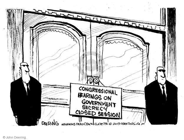 John Deering  John Deering's Editorial Cartoons 2013-06-12 congressional hearing