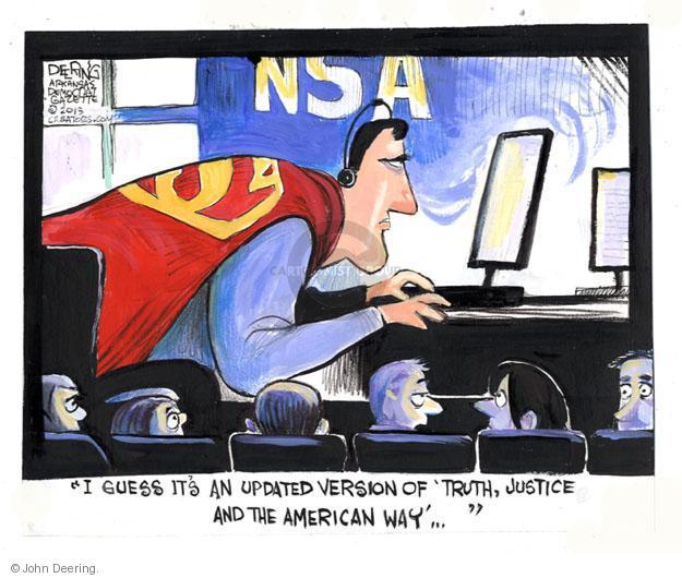 Cartoonist John Deering  John Deering's Editorial Cartoons 2013-06-17 surveillance