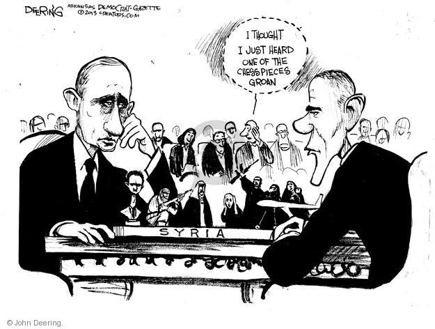 Cartoonist John Deering  John Deering's Editorial Cartoons 2013-06-21 Barack Obama Vladimir Putin Syria