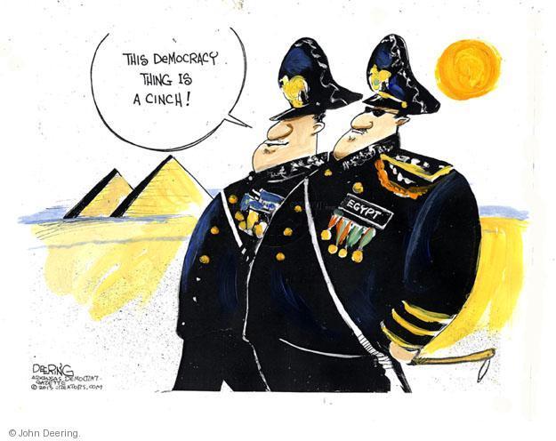 John Deering  John Deering's Editorial Cartoons 2013-07-10 Egyptian revolution
