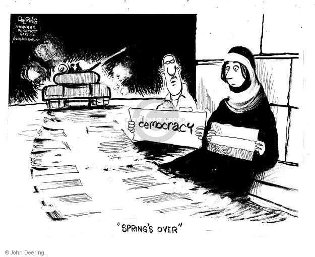 "Democracy. ""Springs Over."""
