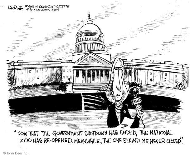 Cartoonist John Deering  John Deering's Editorial Cartoons 2013-10-21 government budget
