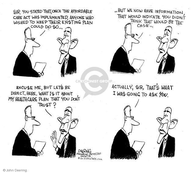 Cartoonist John Deering  John Deering's Editorial Cartoons 2013-10-30 insurance