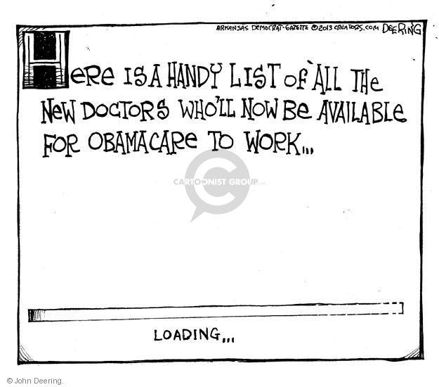 Cartoonist John Deering  John Deering's Editorial Cartoons 2013-12-06 insurance