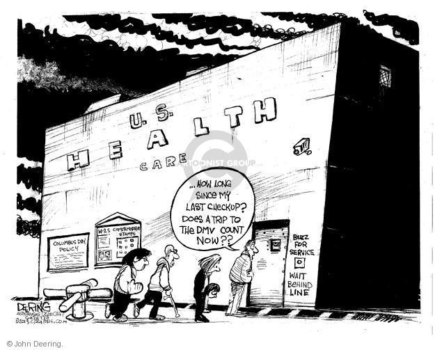 Cartoonist John Deering  John Deering's Editorial Cartoons 2013-12-07 insurance