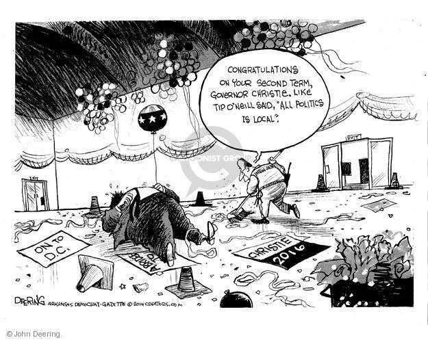 Cartoonist John Deering  John Deering's Editorial Cartoons 2014-01-23 partisan politics