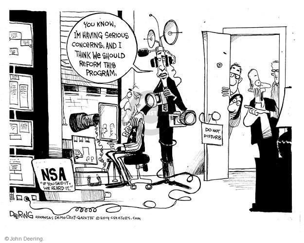 Cartoonist John Deering  John Deering's Editorial Cartoons 2014-01-27 surveillance