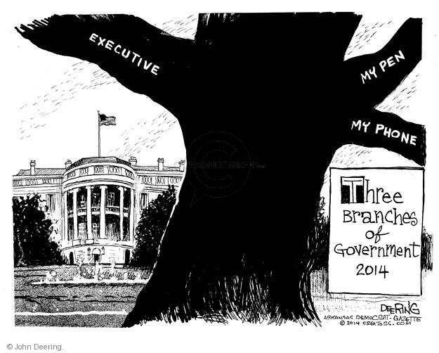 Executive. My pen. My phone. Three Branches of Government 2014.
