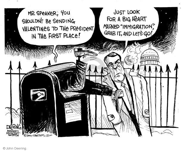 Cartoonist John Deering  John Deering's Editorial Cartoons 2014-02-11 Valentine's Day