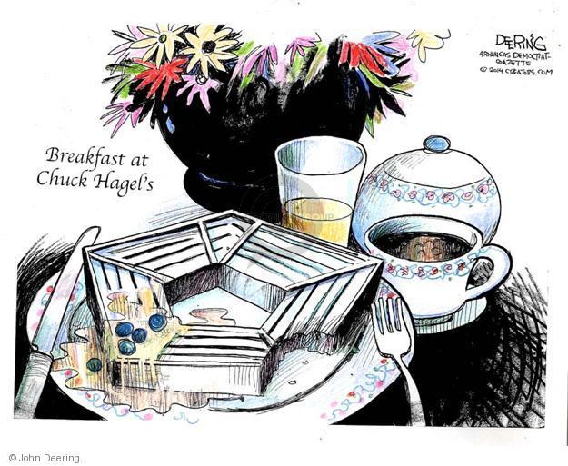 Cartoonist John Deering  John Deering's Editorial Cartoons 2014-02-27 breakfast
