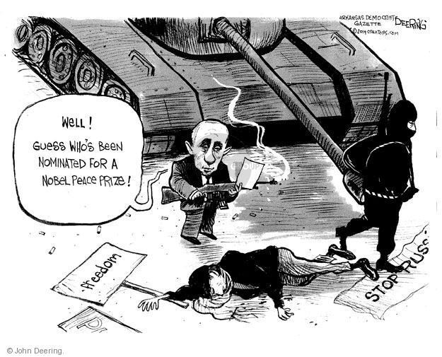 John Deering  John Deering's Editorial Cartoons 2014-03-08 tank