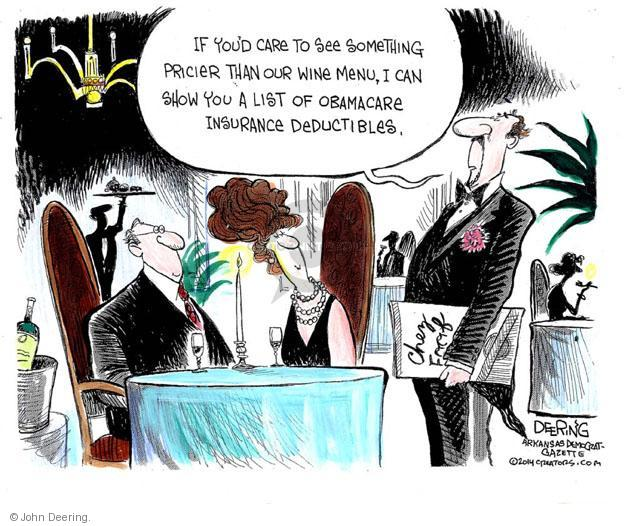 Cartoonist John Deering  John Deering's Editorial Cartoons 2014-04-03 health care policy
