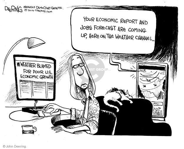 Cartoonist John Deering  John Deering's Editorial Cartoons 2014-05-02 unemployment
