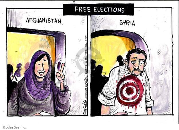 Cartoonist John Deering  John Deering's Editorial Cartoons 2014-05-07 democracy