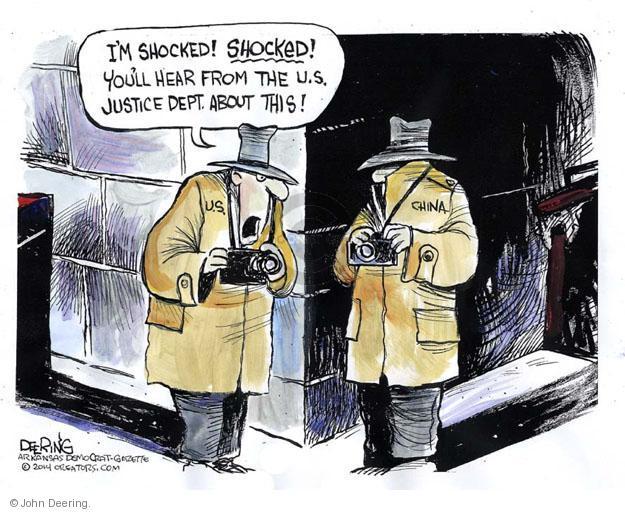 Cartoonist John Deering  John Deering's Editorial Cartoons 2014-05-23 surveillance