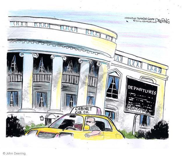 Cabinet Cab Co. Departures.