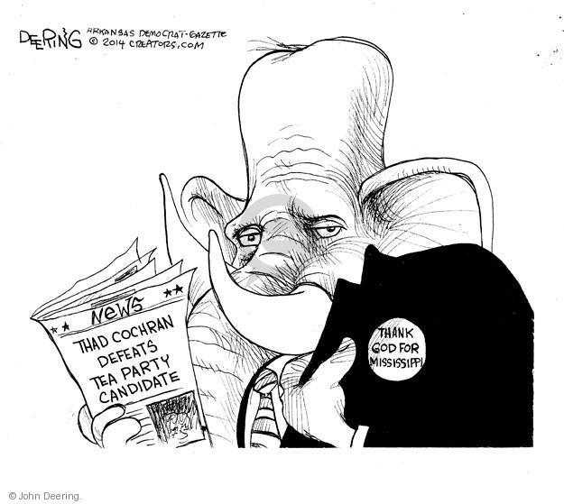 John Deering  John Deering's Editorial Cartoons 2014-06-27 conservatism