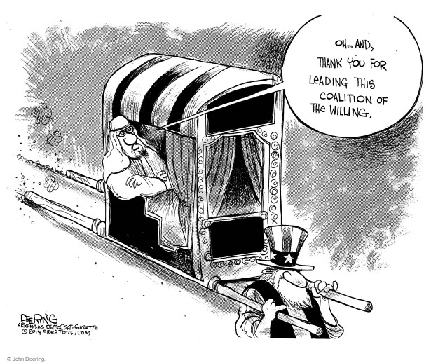 John Deering  John Deering's Editorial Cartoons 2014-09-26 international war