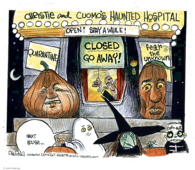 John Deering  John Deering's Editorial Cartoons 2014-10-30 New York governor