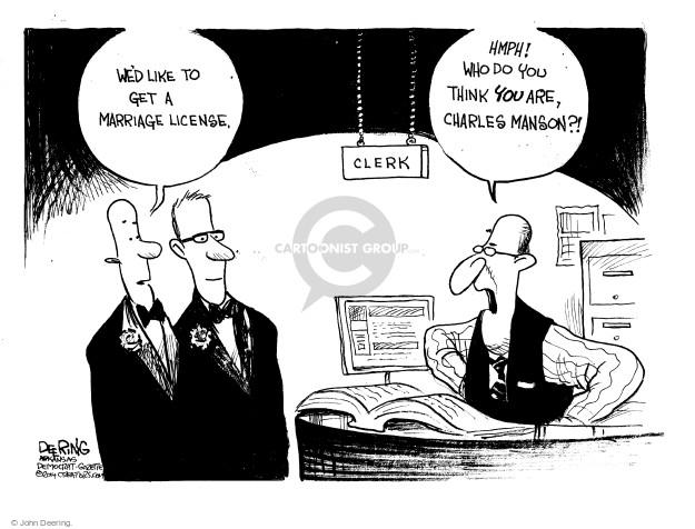Cartoonist John Deering  John Deering's Editorial Cartoons 2014-11-21 leader