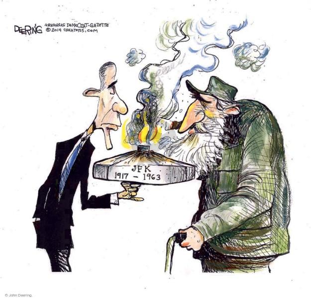 Cartoonist John Deering  John Deering's Editorial Cartoons 2014-12-19 leader