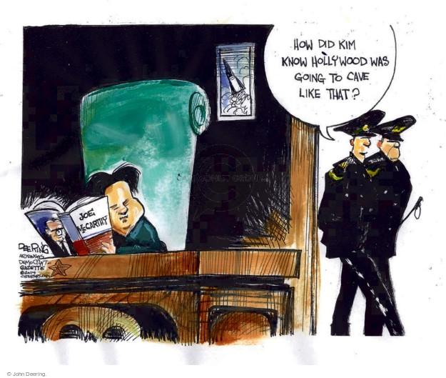 Cartoonist John Deering  John Deering's Editorial Cartoons 2014-12-22 leader