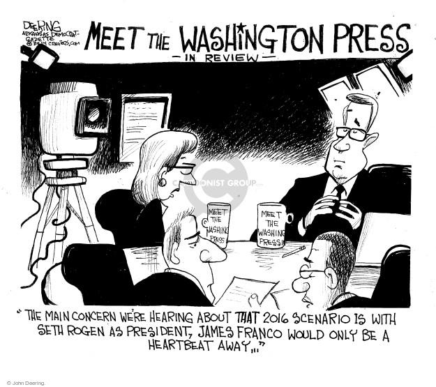 Cartoonist John Deering  John Deering's Editorial Cartoons 2015-01-01 reporter
