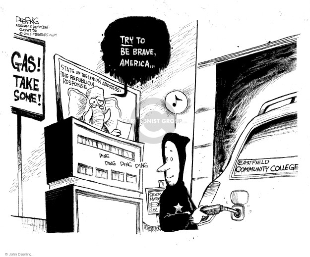 John Deering  John Deering's Editorial Cartoons 2015-01-23 stock market