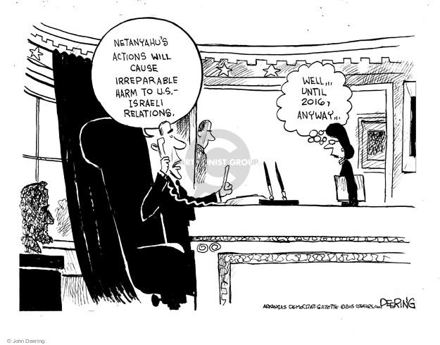 John Deering  John Deering's Editorial Cartoons 2015-03-02 United States and Israel