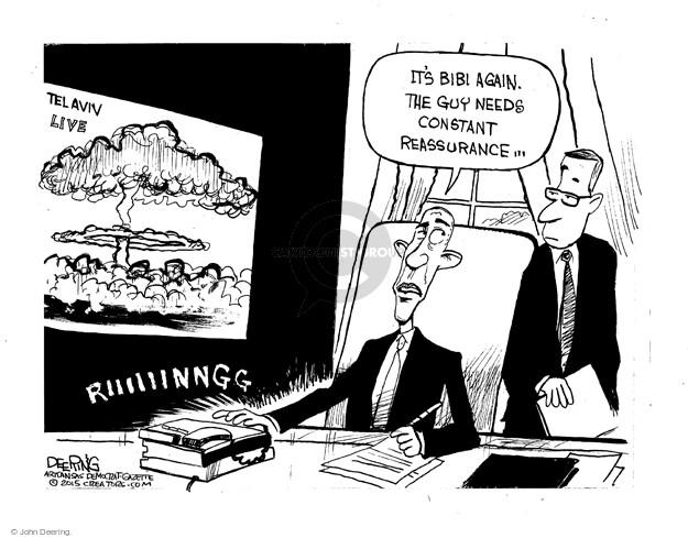 John Deering  John Deering's Editorial Cartoons 2015-03-06 United States and Israel