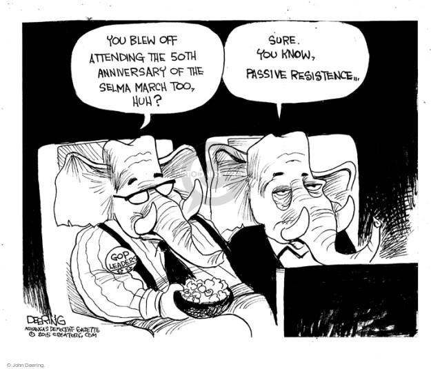 Cartoonist John Deering  John Deering's Editorial Cartoons 2015-03-07 leader