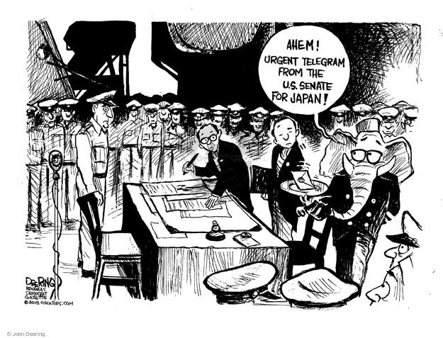Cartoonist John Deering  John Deering's Editorial Cartoons 2015-03-13 republican senate
