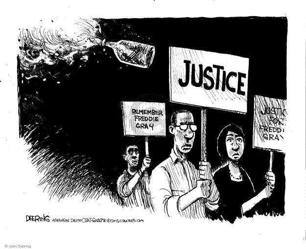 John Deering  John Deering's Editorial Cartoons 2015-04-30 protest