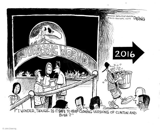 Cartoonist John Deering  John Deering's Editorial Cartoons 2015-06-10 George Bush
