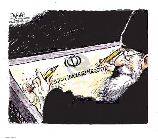 John Deering  John Deering's Editorial Cartoons 2015-06-26 Iran
