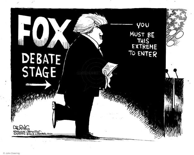 John Deering  John Deering's Editorial Cartoons 2015-08-07 2016 Republican Debate