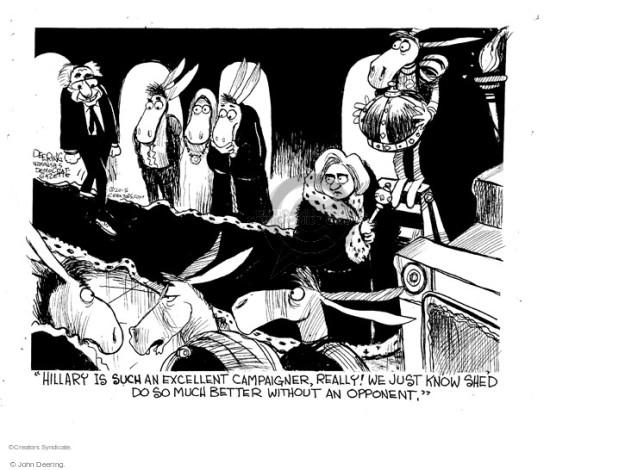 John Deering  John Deering's Editorial Cartoons 2015-08-10 Bernie Sanders