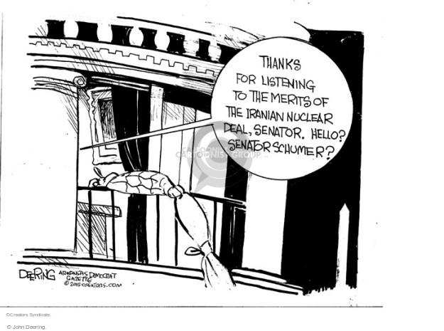 Cartoonist John Deering  John Deering's Editorial Cartoons 2015-08-12 nuclear