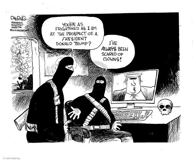 Cartoonist John Deering  John Deering's Editorial Cartoons 2015-12-08 John
