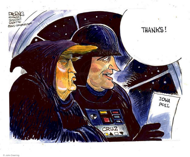 Cartoonist John Deering  John Deering's Editorial Cartoons 2015-12-16 senator