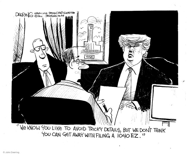 Cartoonist John Deering  John Deering's Editorial Cartoons 2016-03-09 tax