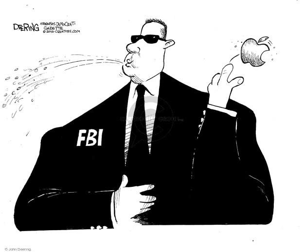 John Deering  John Deering's Editorial Cartoons 2016-04-13 FBI