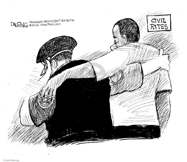 John Deering  John Deering's Editorial Cartoons 2016-07-13 racism