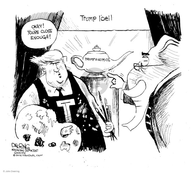 John Deering  John Deering's Editorial Cartoons 2016-08-10 economic