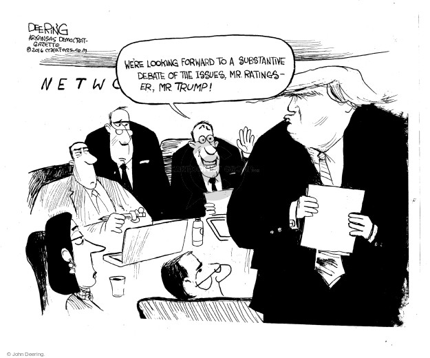 John Deering  John Deering's Editorial Cartoons 2016-09-10 Donald Trump media