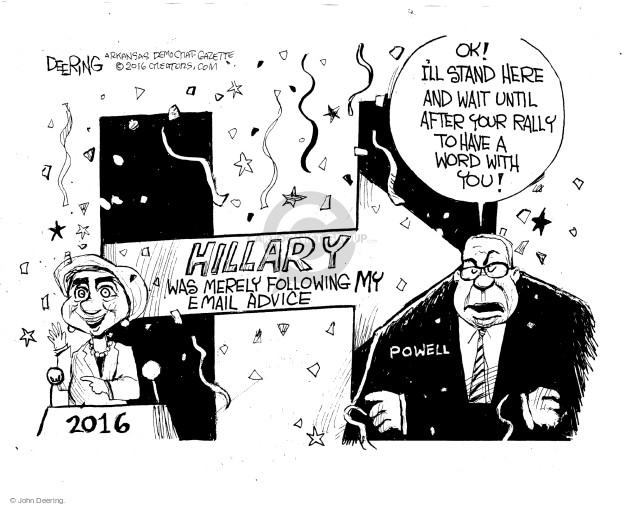 John Deering  John Deering's Editorial Cartoons 2016-09-11 2016 Election Hillary Clinton